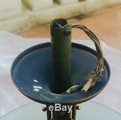 1930 Lustre à Vasque en Verre Bullé Dans le Gout de Genet & Michon Art déco
