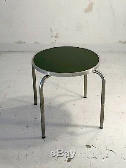 1930 Marcel Breuer Columbus Table Basse Gueridon Moderniste Bauhaus Art-deco
