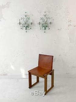 1960 Flavio Poli Veronese Murano 2 Appliques Art-deco Neo Classique Shabby-chic
