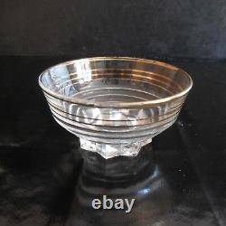 4 coupes champagne Art Déco 1930 Verrerie de la Chapelle St Mesmin France N3140