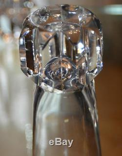 6 Verres GOBELETS à Eau VIN cristal taille BACCARAT ST. LOUIS signée ART DECO