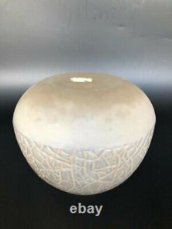 ANCIEN VASE ART DECO SIGNÉ ANDRÉ HUNNEBELLE VERRE MOULÉ art deco lalique sabino