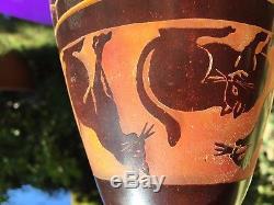 ART DECO Rare vase decor chats le Verre Français 1922/24