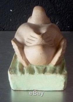 Amalric WALTER NANCY-canard-céramique-no pate de verre-art nouveau-art deco