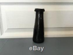 Ancien Flacon pot a truffe, bouteille, jar verre souffle 18ème Pontil Art Deco