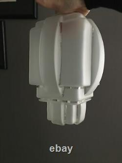 Ancien Globe -lampe-suspension Moderniste Building Skyscraper H 30 CM