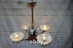 Ancien Lustre Ezan Opalescent Art Deco