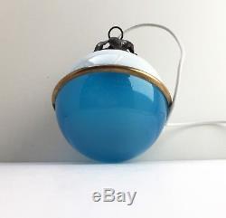 Ancien Lustre Lampe Plafonnier Art Deco Bauhaus NIVAL Ilrin Ceiling Lamp 1930 s