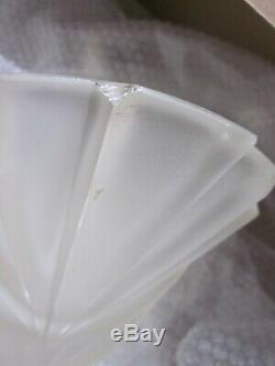 Ancien Lustre Suspension Art Déco signé Degué en verre dépoli