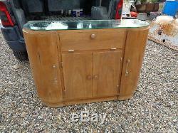 Ancien petit meuble bar années 1950 design 20ème style art deco vintage verre