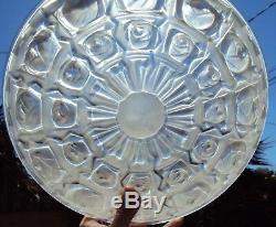 Ancien plafonnier vasque art déco en verre moulé signé noverdy début 20 ème