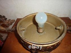 Ancienne Lampe Art Déco Murano Verre Soufflé Lampada Lamp Lampara Lustre Ancien