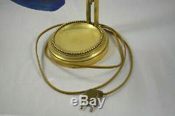 Ancienne Lampe En Bronze Et Pate De Verre Art Deco Dlg Daum Galle