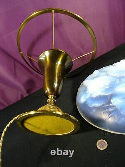 Ancienne lampe à poser art déco coupe opalescente ETLING