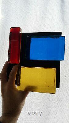 Applique vintage verre soufflé Bauhaus Corbusier Moderniste Art deco