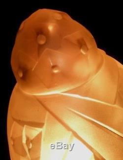 Art Deco 1 Obus Signe Degue French Lamp Chandelier No Muller Lustre Lampe