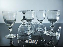 Art Déco 6 Verres A Vin Cristal Grave Aiguille Dégage Acide Baccarat