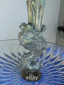 Art Déco Presentoir Coupe Verre Moule Opalescent Etling Sabino Ezan France