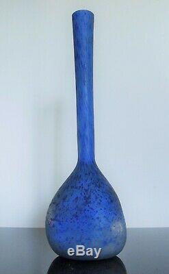 Art Déco Vase Berluse Pte De Verre Muller Frères Lunéville 39 CM