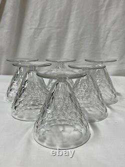 Baccarat 6 Verres À Eau Cristal Décor Écaille Modèle Chauny Art Déco