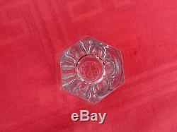 Baccarat Harcourt 6 Flat Tumbler Crystal Glass 6 Gobelet Cristal Taillé Art Deco
