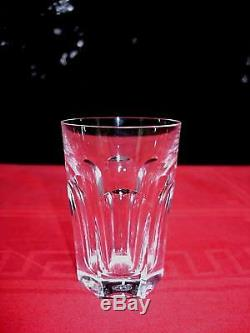 Baccarat Harcourt 6 Flat Tumbler Crystal Glass Gobelet Cristal Taillé Art Deco B