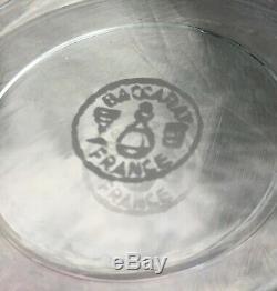 Baccarat Paris Flat Tumbler Glasses Verre Gobelet A Vin Cristal Taillé Art Deco