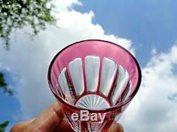 Baccarat Wine Glasses Gobelet Verre A Vin Cristal Taillé De Couleur Coloré Rose