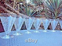 Baccarat lot de 10 verres à vin en cristal gravé Art Déco début 20 ème
