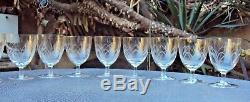 Baccarat lot de 9 verres à eau en cristal gravé Art Déco début 20 ème