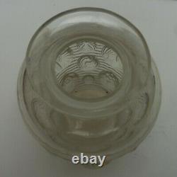Beau vase VERLYS France en verre époque art déco 1935 à décors originaux