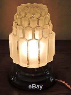 Belle LAMPE BUILDING MODERNISTE ART DECO SKYSCRAPER GRATTE-CIEL 1930