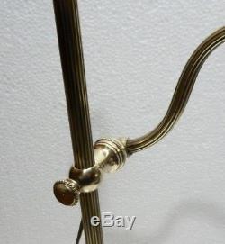 Belle LAMPE DE BUREAU Télescopique et Inclinable en Bronze et Pâte de verre