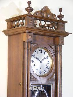 Carillon Ave Maria 10 tiges Junghans style Henri II verre biseauté no Odo clock