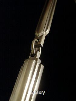 Charder-le Verre Francais Suspension Art Déco Vasque En Verre Gravé & Bronze