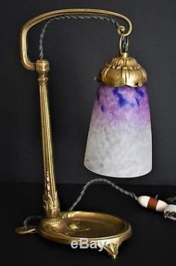 Charles Ranc et Schneider lampe bronze et pâte de verre art déco 1920/1930