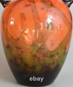 Charles Schneider Grand vase Art Deco Verre multicouche ca 1920