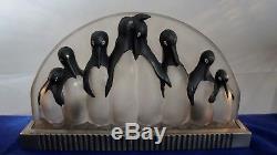 Costbelle, lampe de table art deco pingouins