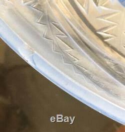 Coupe art déco verre dépoli Pierre d'Avesn oiseaux exotiques