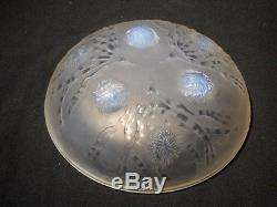 Coupe en verre Art Déco de SABINO, décor Algues et Oursins