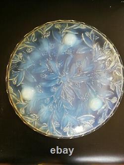 Coupe en verre moulé pressé opalescent signé Espaivet Art Déco no sabino verlys