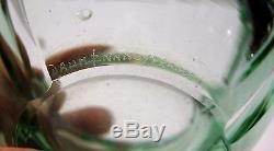 DAUM NANCY ART DECO 1940 CENDRIER verre massif taillé diam14,2 h7cm