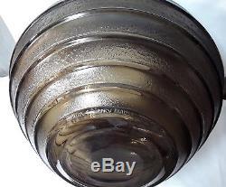 Daum Croix De Lorraine / Énorme Vase En Pte-de-verre Grave Acide- Art Déco 1930
