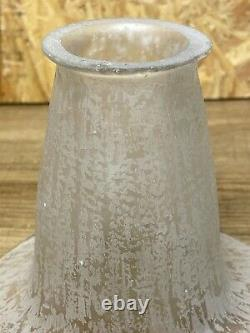 Daum Nancy Tulipe Art Déco Pour Lampe, Lustre Pate De Verre (2)