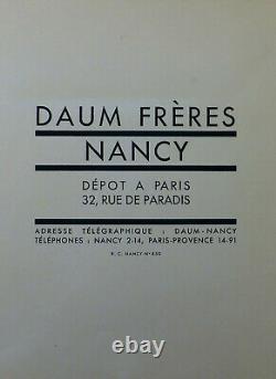 Daumnancy Lampe Champignon Art Déco En Fer Forgé & Obus En Pte De Verre 1930