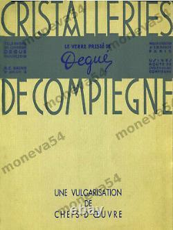 Degué Lustre Art Déco En Fer Forgé A Quatre Feux Et Sabots En Verre Pressé 1930
