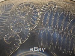 ETLING SIGNE GRAND COUPE EN VERRE MOULE OPALECENT ART DECO SABINO VERLYS H35cm