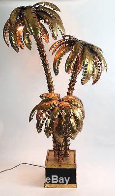 Exceptionnel Lampadaire Année 70 Style Jansen En Forme De Palmier De 2m15 De H