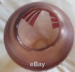 Exceptionnel Très Grand Vase Pate De Verre Legras Degagé A L'acide Art Deco