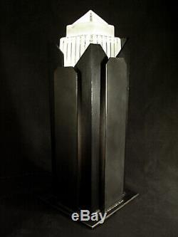 Exceptionnelle Lampe Building Moderniste Art Deco Skyscraper Gratte-ciel 1930